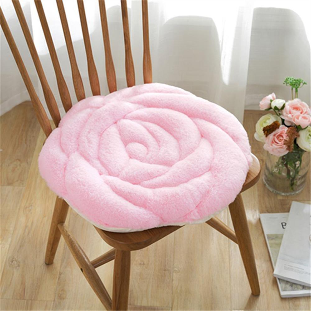 Pinke Blume Japanische Art runde rutschfeste Stuhlkissen-Stuhl-Kissen-Sitzauflage