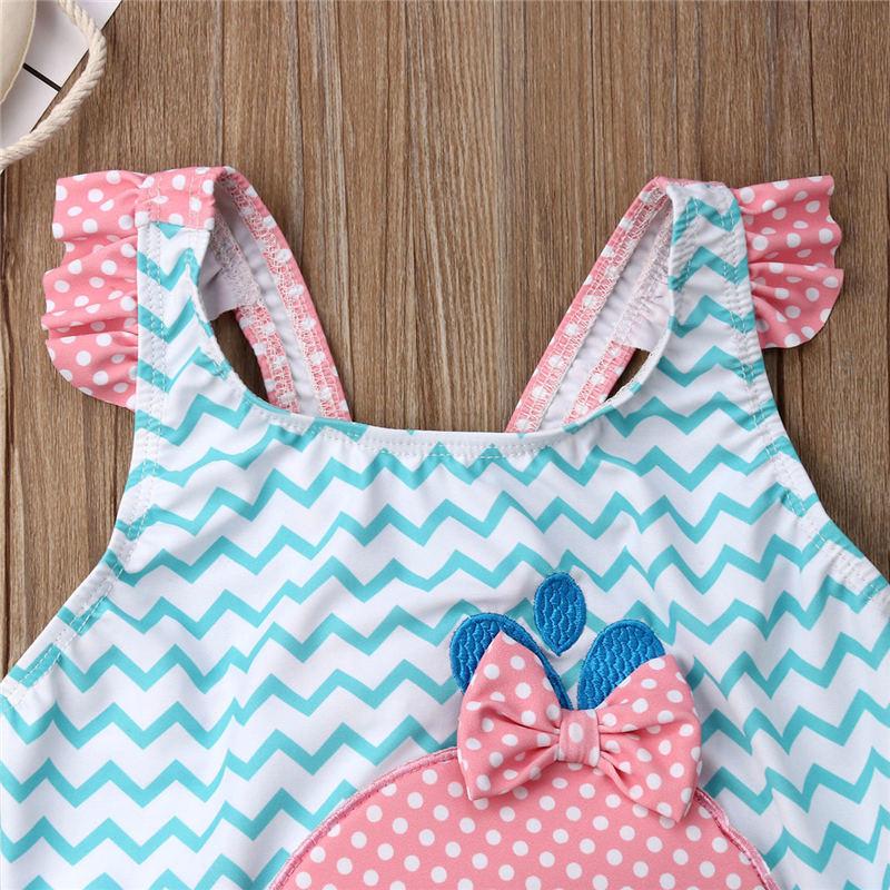 2019 Kids Swimwear Baby Girl Swimsuit Bowknot One-Piece Goldfish Jumpsuit Bathing Suit Summer Toddler Children Beachwear