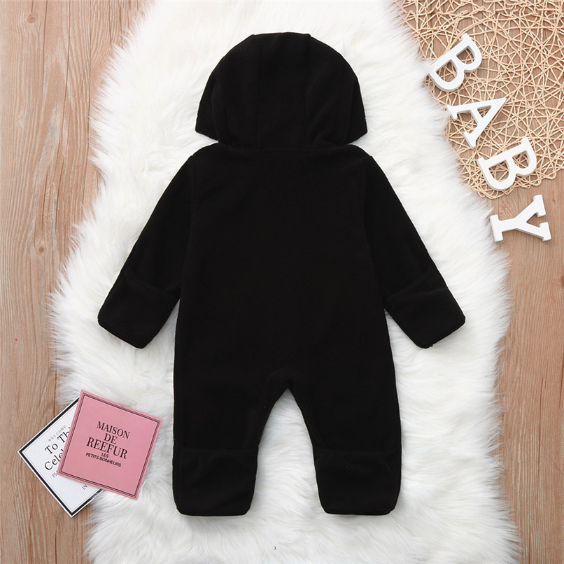 Baby Romper Newborn Baby costume Infant Boy Girl Long Sleeve Cartoon Warm Hoodie Jumpsuit Romper Clothes baby clothes D21 (3)