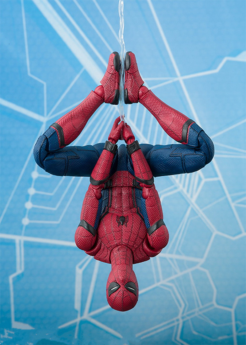 2017 New Spiderman Series Spider-Man PVC Action Figure Collectible Model Toy Christmas Gift for Kids 15cm (2)