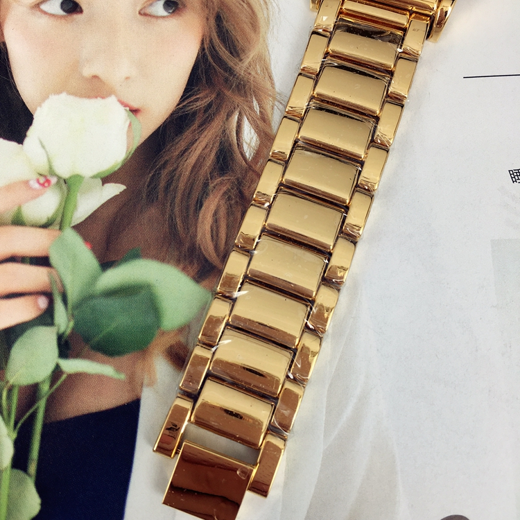 Hot Sale Fashion Lady Watches Women Watch Golden Table Black Bracelet Luxury Wristwatches Brand Female Clock