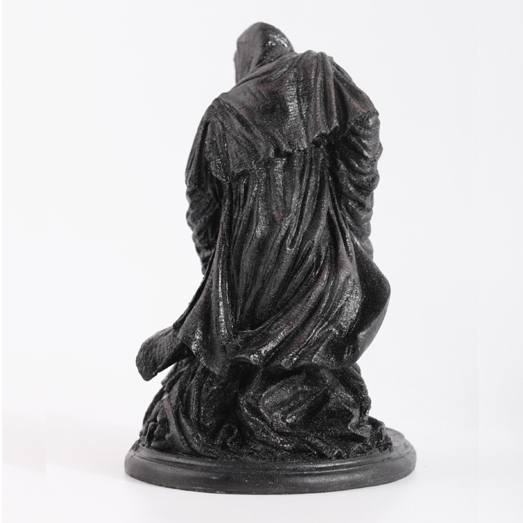 Ringwraith The Lord Of Rings Dark Knight Witch King Black Riders Statue Creative Game Model Decoration Mascot Antique Mascot Kids Gift (4)