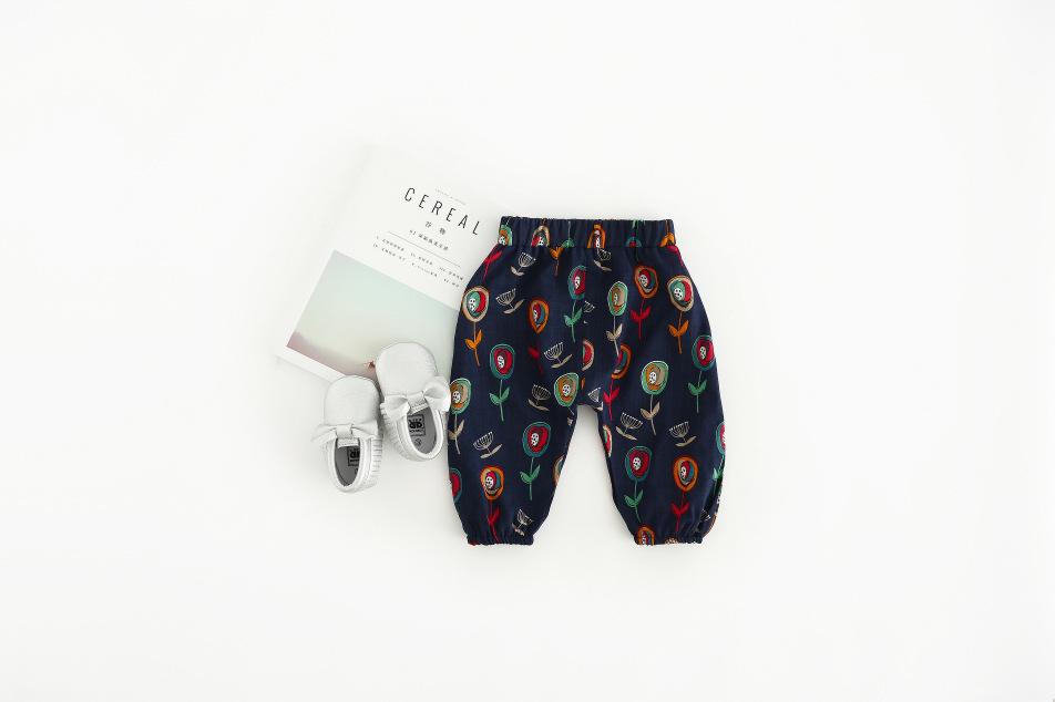 Fashion Kids Baby Girls Flower Long Pants Infants Toddler Summer Casual Leggings Soft harem Pants boys animal Trousers for 0-2Y (3)
