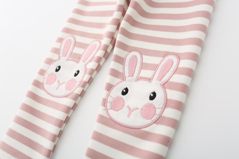 Baby Girls Leggings Girl Cartoon Rabbit Embroidery Legging Infantil Para Menina Girls Pants Elastic Waist Winter Autumn 1-4 Year