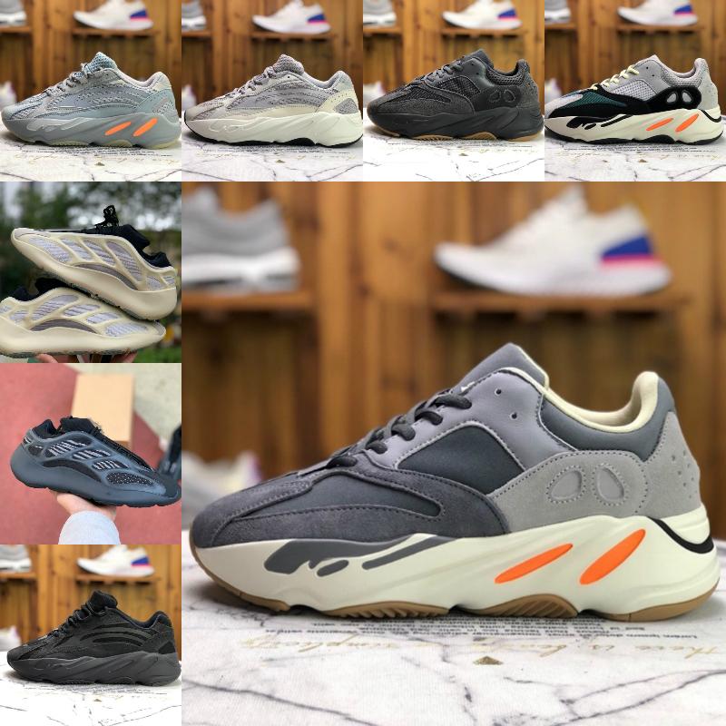 2020 Adidas Yeezy wave runner 700 Boost sply 500 V2 Yeeyz Shoes V3 Alva Azaël 3M réfléchissant 380 Alien Mist Luxury Mens Designer Marque Sneakers
