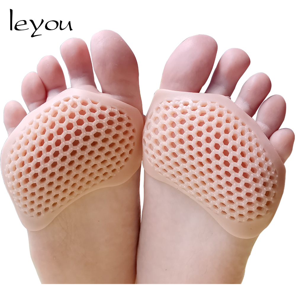 Clear Gel Silicone Foot Forefoot Half Sole Insoles Shoes Care Cushion Pad  UKLQ