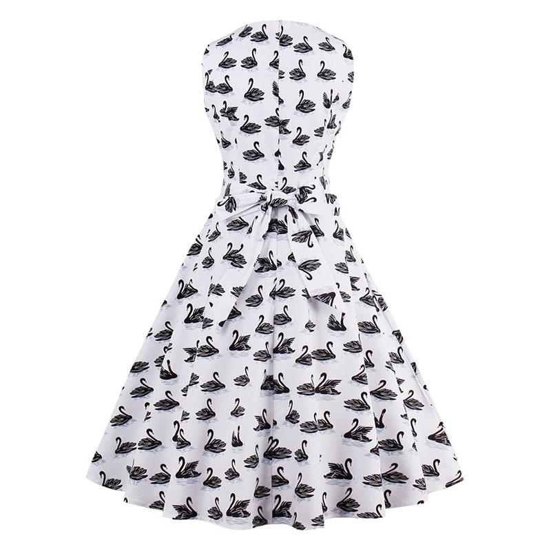 Kostlish 9 Style Print Summer Dress Women 2017 Sleeveless Swing 1950s Hepburn Vintage Tunic Dress Elegant Party Dresses Sundress (24)