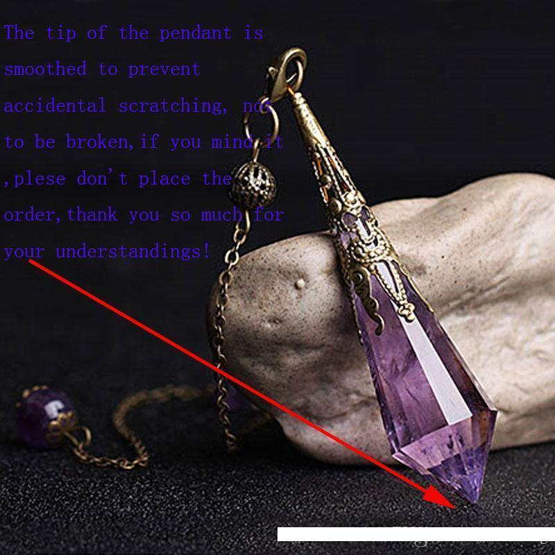 Natural Raw Crystal Gemstone Point Dowsing Pendulum Scrying Divination Dowser