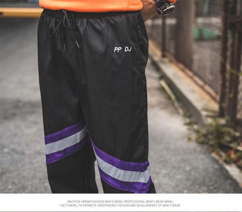Loose Hip Hop Cargo Pants Men Camouflage Patchwork Harem Mens Trousers Streetwear (65)