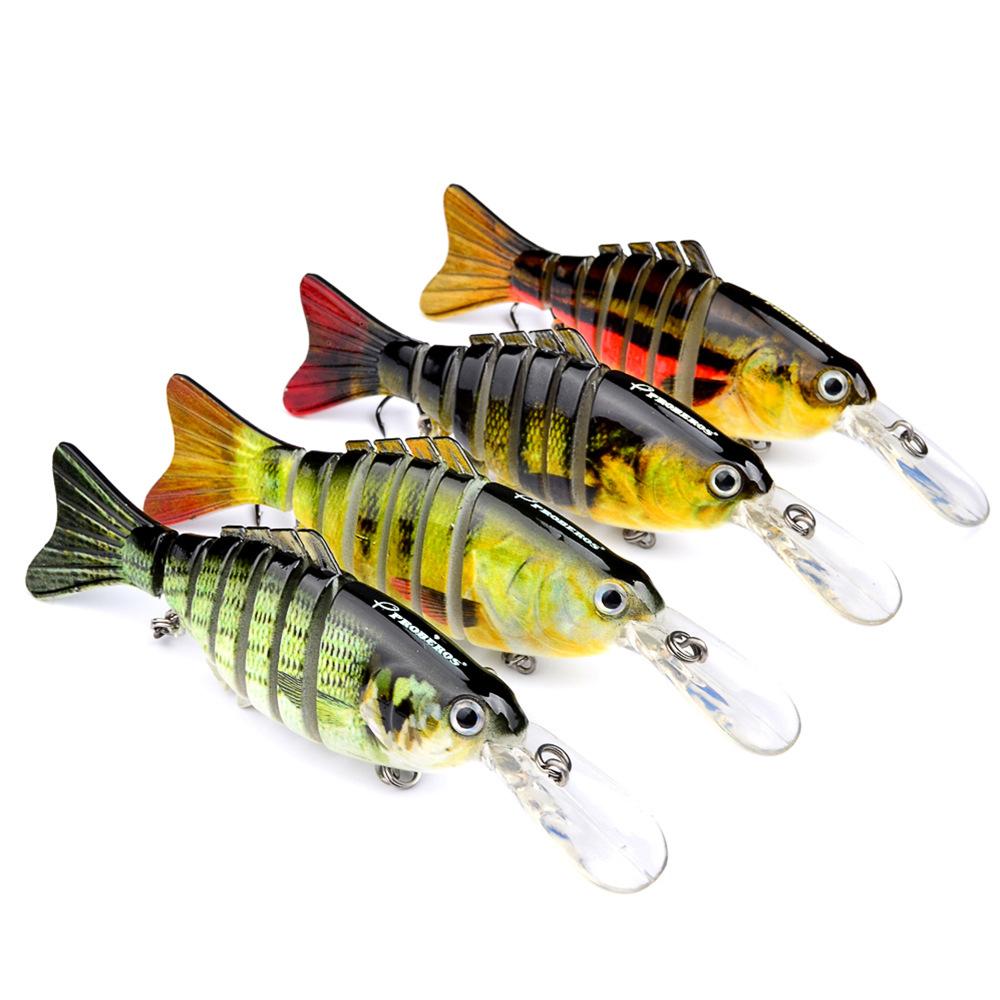 4pcs//Lot Swimbaits Fishing Lure 7 Sections Swimbait Bait Bass Tackle 11.2cm 14g