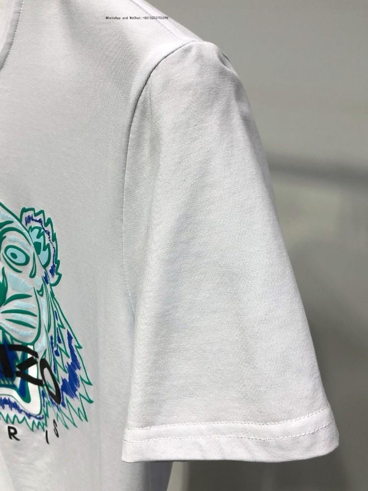 Yaz Erkek Stil Kısa Kollu Moda Trendi Kore Baskı İnce Erkekler Yarım Kollu T-shirt 0308