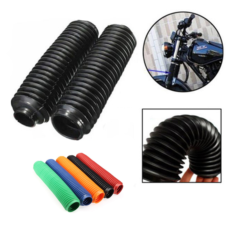Motorcycle Dirt Bike 360mm Fork Dust Covers Gaiters Boots Shock Rubber Kit