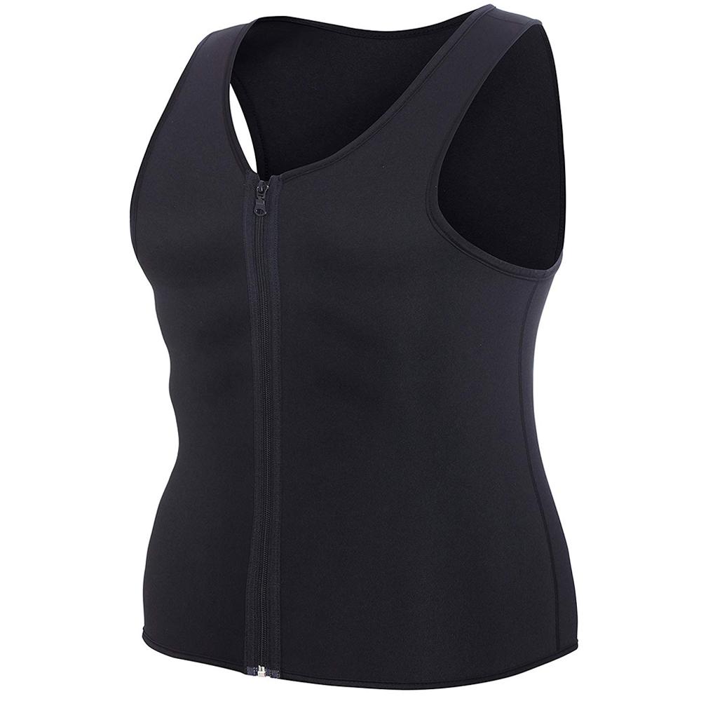 CXZD 2019 Men Waist Trainer Vest for Weightloss Hot Neoprene Corset Body Shaper Zipper Shapewear Slimming Belt Belly Men (5)