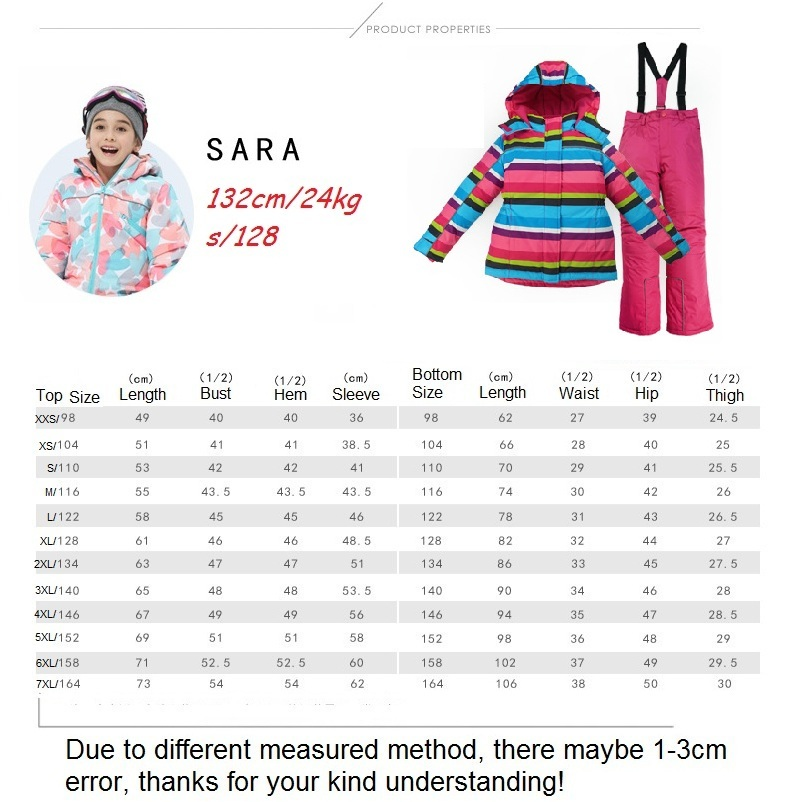81678eed79c5 2019 Children Waterproof Windproof Warm Skiing Jackets Thermal Kids ...