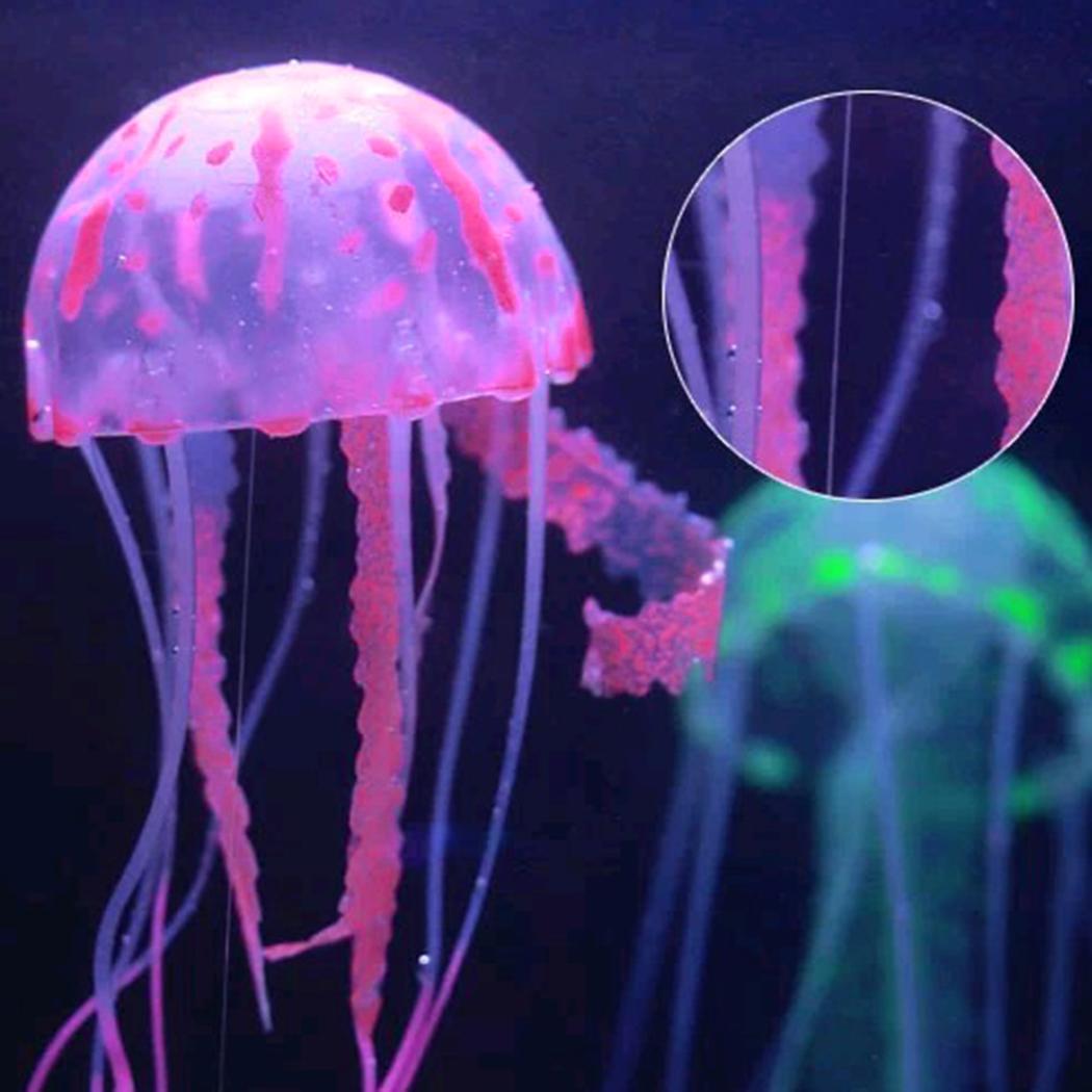 Nouveau Mode LED Réservoir de Poissons Aquarium Effet Lumineux Lumineux Décoratif Ornement De Poisson Méduse Nouvelle Méduse