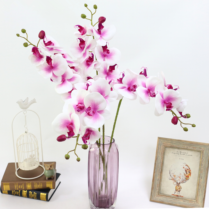 Artificial Orchid Flower 4 color Real Touch Artificial Butterfly Orchid flores artificial Wedding decoration home Festival Decor (10)