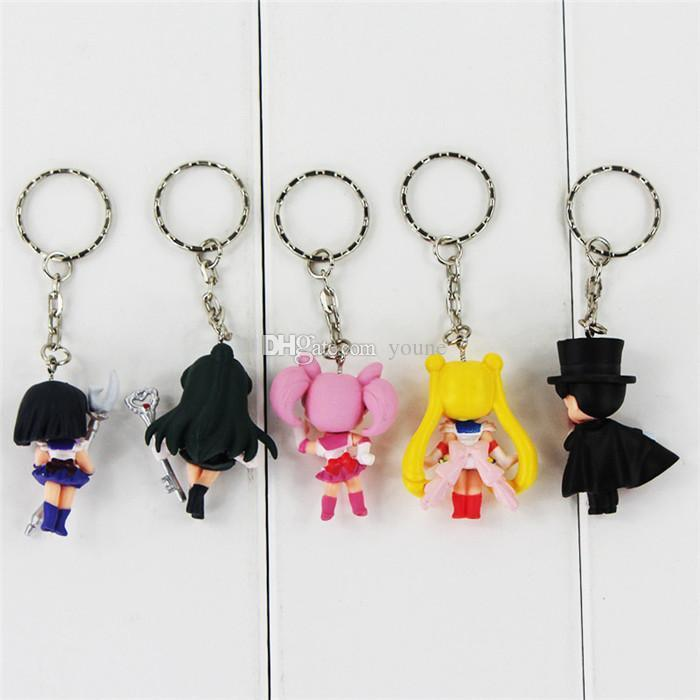 /Anime Sailor Moon Mars Jupiter Venus Mercury Keychains Action Figures Toys Dolls