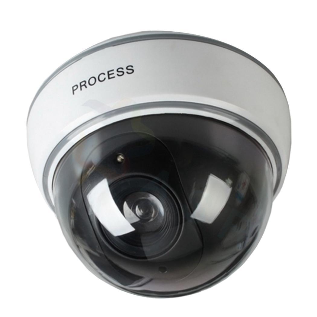 Fake Dummy Simulation Dome Camera Red LED Blinking Light Security Camera Fashion Simulation Dome Camera