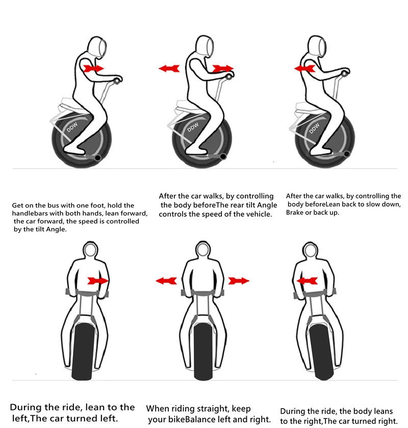 Adult Electric Motorcycle Scooter One Wheel Electric Scooters 18 Inch Fat Tires Portable Electric Unicycle One 1000W 60V 90KM (10)