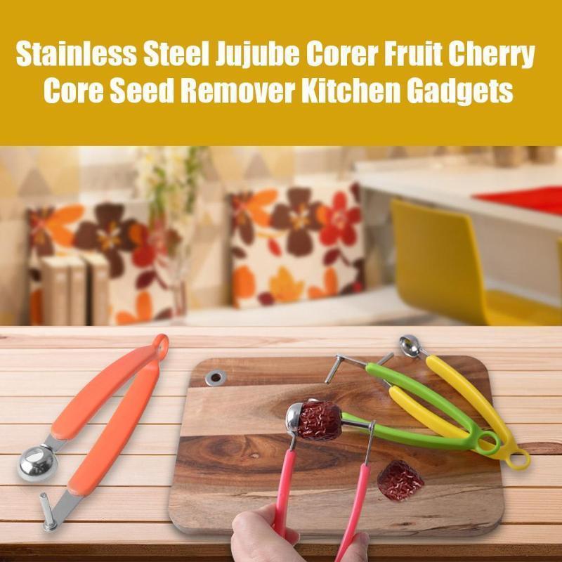 Cozinha moda Semente fácil Cereja Fruit núcleo removedor de cereja Gadgets Ferramentas Fruta, Cereja, Pitter corer cozinha Ferramenta Acessórios