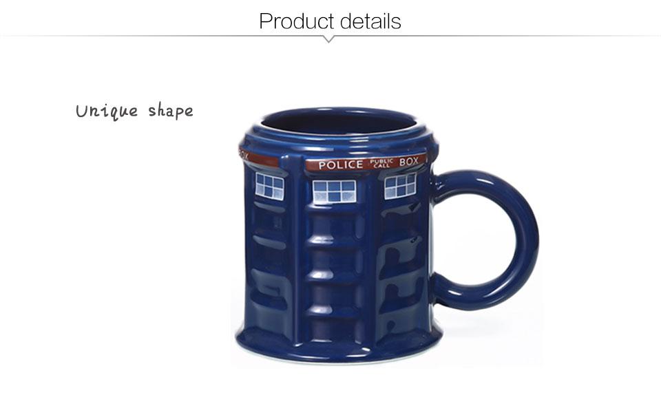 Doctor Who Tardis Police Box Ceramic Mug Cup With Lid Cover For Tea Coffee Mug Funny Creative Gift Christmas Presents Kid Men (2)