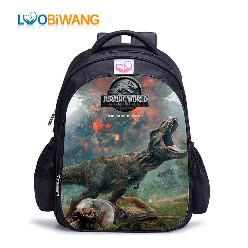 2019 Boys Girls Jurassic World Backpack School Bag Leisure Travel Bag Kids Gift