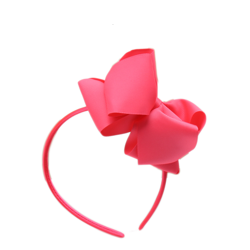 12pcs Neon Color Hairband Handmade Boutique Girls Hair Bow Hair Band Ribbon Bow