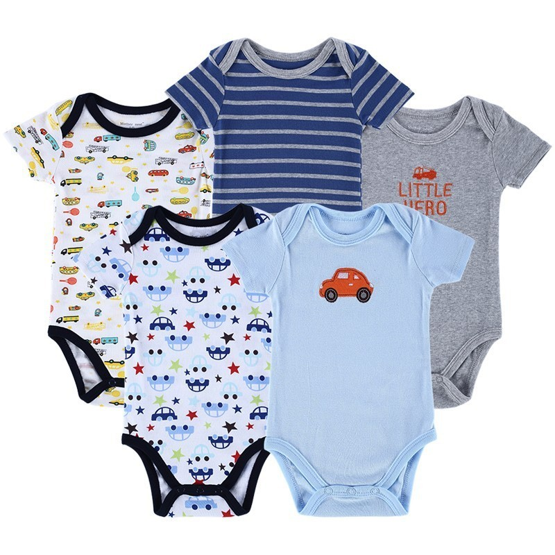 Luvable Friends 5 Pieceslot Baby Body Roupa Infantil Infant Clothing Lovely Bird Bodysuit Pattern New Born Baby Clothing (1)