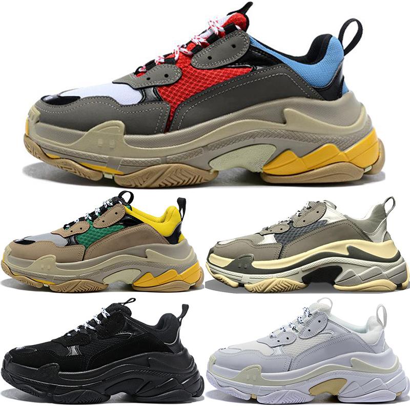 2020 balenciaga triple s ancien des chaussures de designer luxe pour hommes femmes formateurs grande semelle baskets de sport tripler noir blanc de