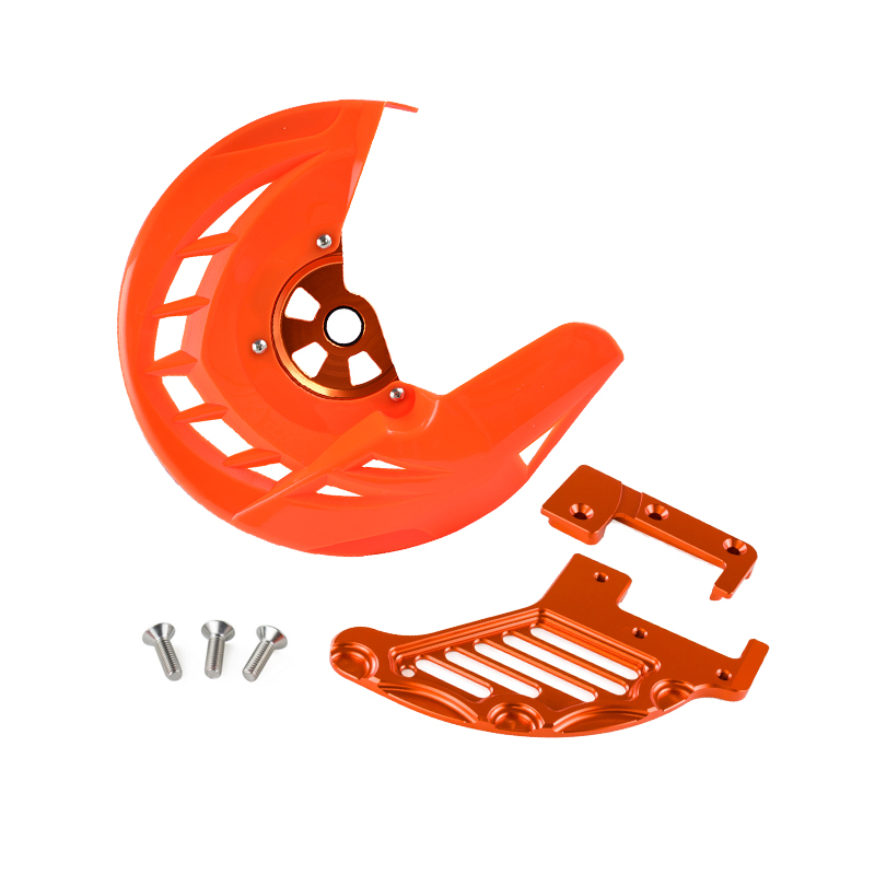 Front Brake Disc Rotor Guard Protector Cover For KTM SX XC EXC SXF XCF XCW XCFW EXCF SIX DAYS 125 150 200 250 300 350 400 450 500 505 525 530 2015-2019 Dirt Bike Orange
