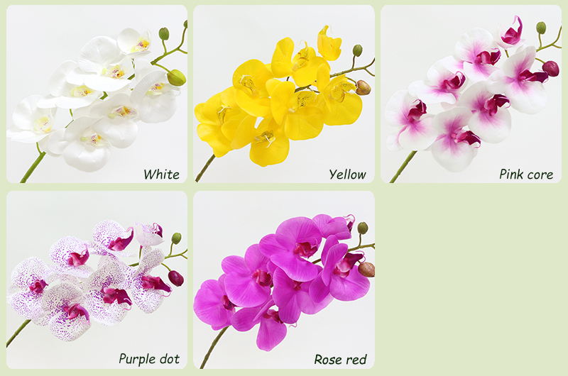 Artificial Orchid Flower 4 color Real Touch Artificial Butterfly Orchid flores artificial Wedding decoration home Festival Decor (2)