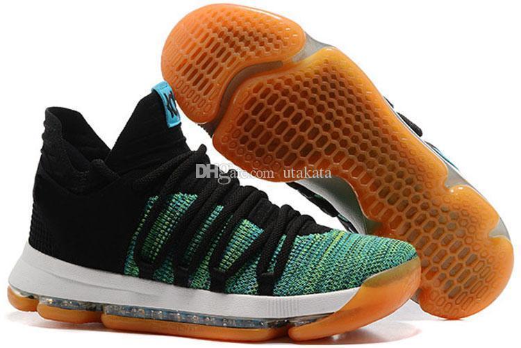 Yeni KD 10 Basketbol Ayakkabıları Erkekler Erkekler s Homme Mavi Tenis BHM 10X9 Elite Çiçek Teyze Inciler Paskalya Spor ayakkabı