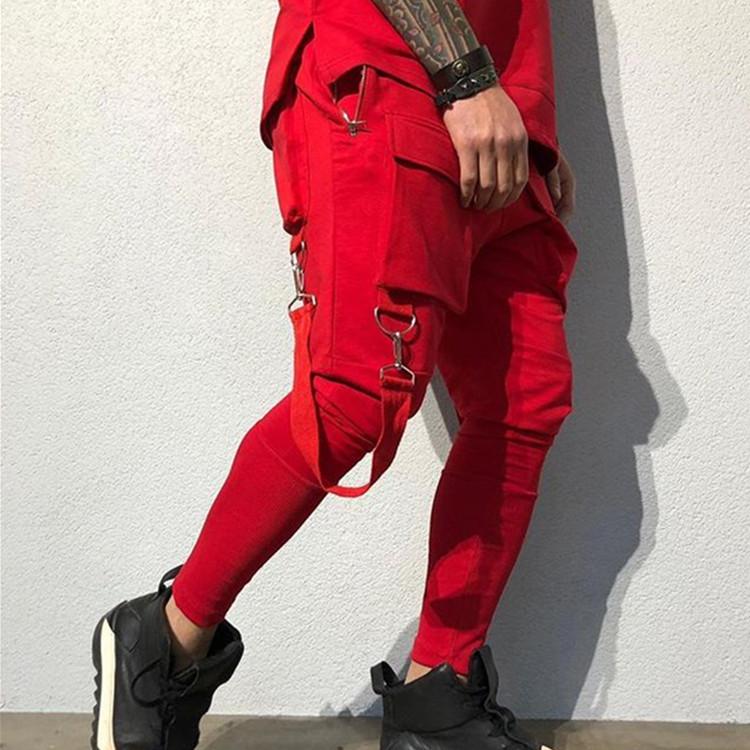 Compre Pantalones Para Hombre Primavera Y El Otono De 2020 Pantalon Ropa De Diseno De Lujo De Hip Hop Gran Bolsillo De Los Pantalones Ocasionales De Los Deportes De Los Pantalones De