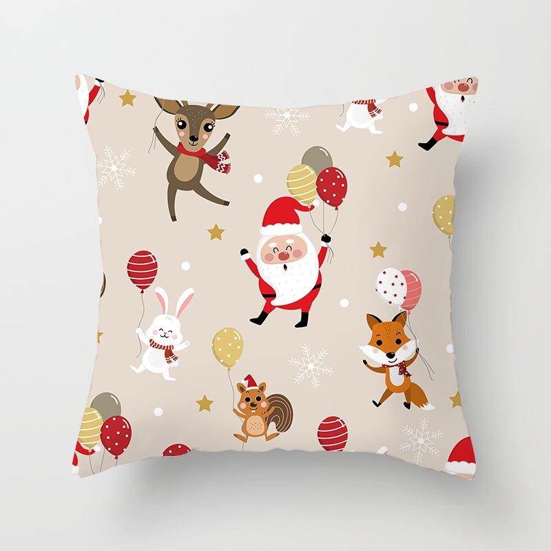 1Pcs 4545 Cm Happy New Year Christmas Decorations for Home Cartoon Santa Claus Xmas Decorative Pillows Cover adornos navidad (19)