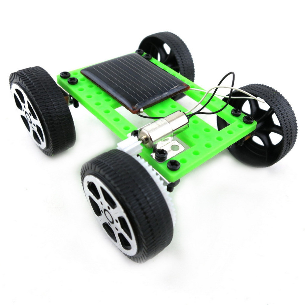 Toys For Children Mini Solar Powered Toy Car Diy Abs Kit Child Educational Funny Gadget Hobby Gift