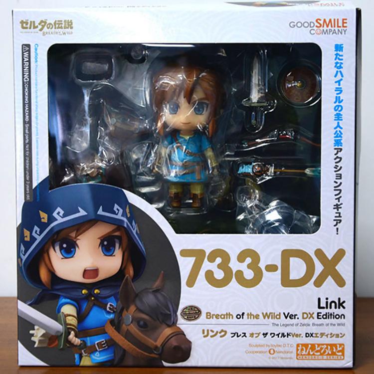 The Legend of Zelda 733-DX Nendoroid Link Zelda Figure Breath of the Wild Ver DX Edition Deluxe Version Action Figure (3)