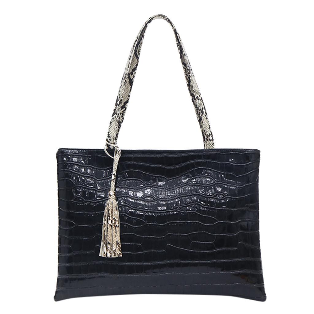 1Maioumy Women Fashion Handbag Large Capacity Shoulder Bag Solid Color Computer Flowers Zipper Animal Print Messenger Bag July 8