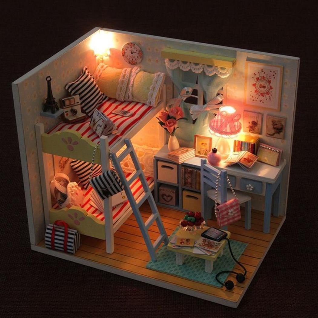 Families DIY Furniture Assembling House Toys Unisex Model Casual Made of Eco-friendly paper 3D Building House