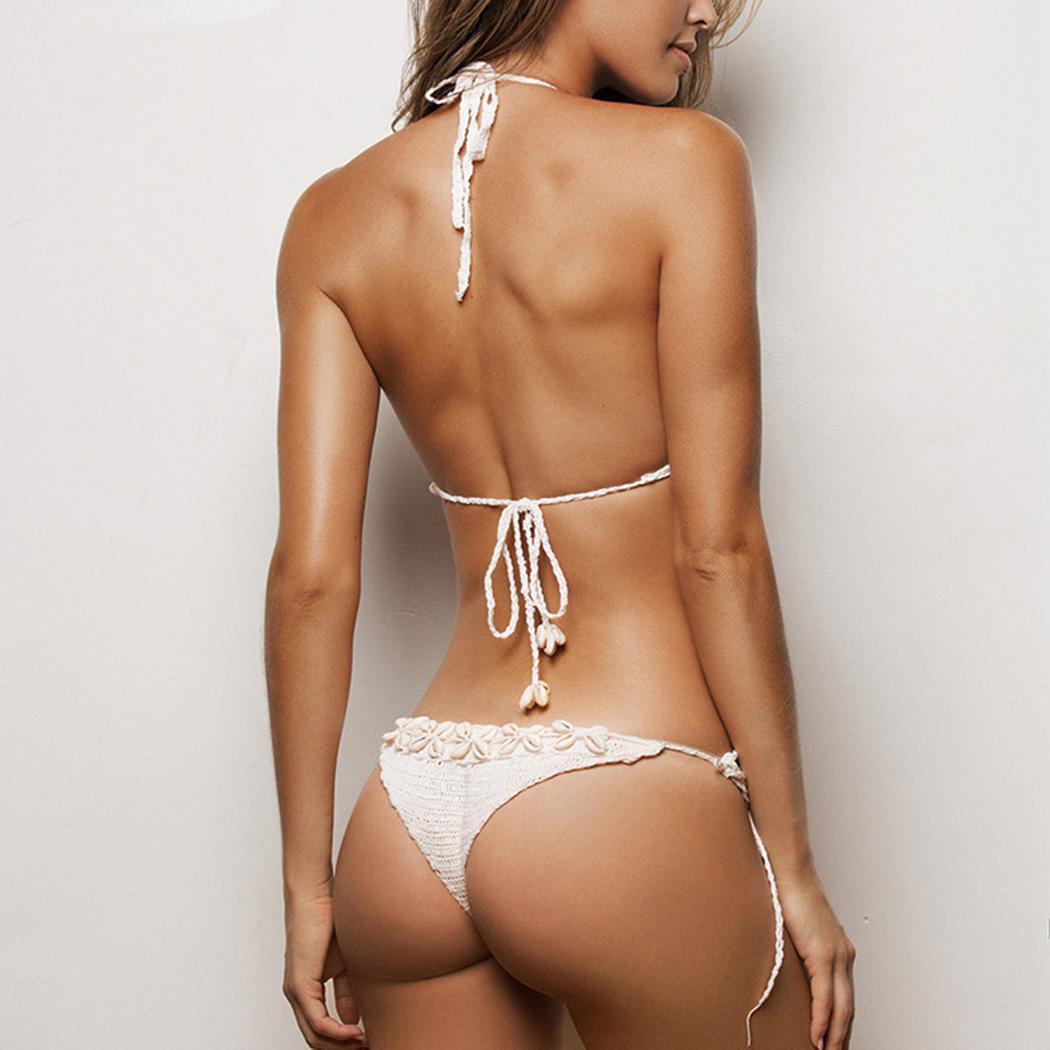 Neue Frauen Sleeveless Feste Sommer Lace-up Bikini Set Fashion New Apparel Bekleidungszubehör