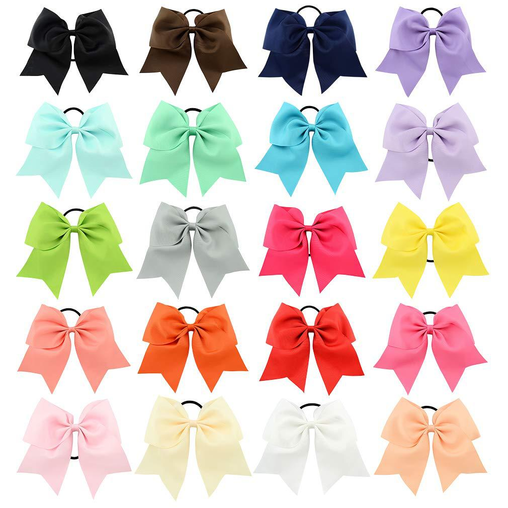 "20 BLESSING Good Girl Hair Accessories 7/"" Cheer Leader Bow Elastic 83 No."