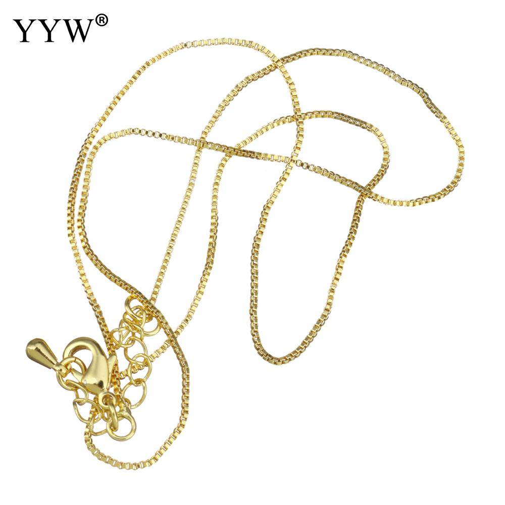 10Strands2018 New Gold/Silver Plated Necklace with Adjustable Chain for necklace jewelry making finding 16Inch