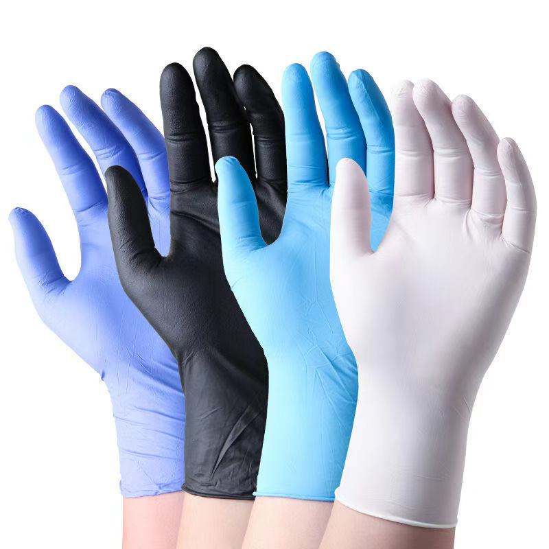 100pcs Cheap Disposable Latex anti-static Gloves Unisex Box Bulk Packing Food processing industry Protection PVC Nitrile Gloves