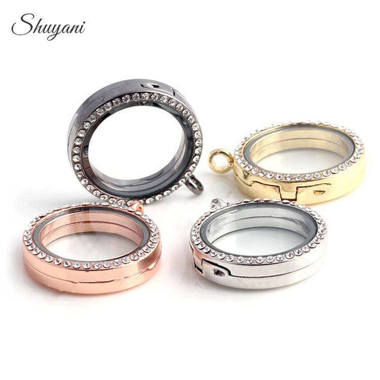 Shuyani-10pcs-lot-Mixed-30mm-Crystal-Floating-Locket-for-Magnetic-Glass-Living-Memory-Charms-Locket-Pendant