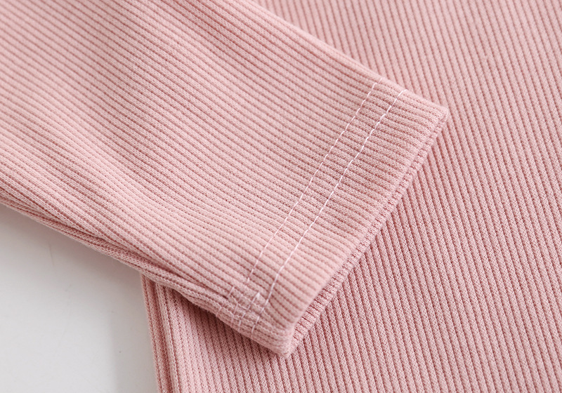 New Ribbed Fitted Pajamas For Baby Girl Pajamas Kids Boy Children Clothes Autumn Winter Toddler Set Soft Comfortable Long Sleeve (9)