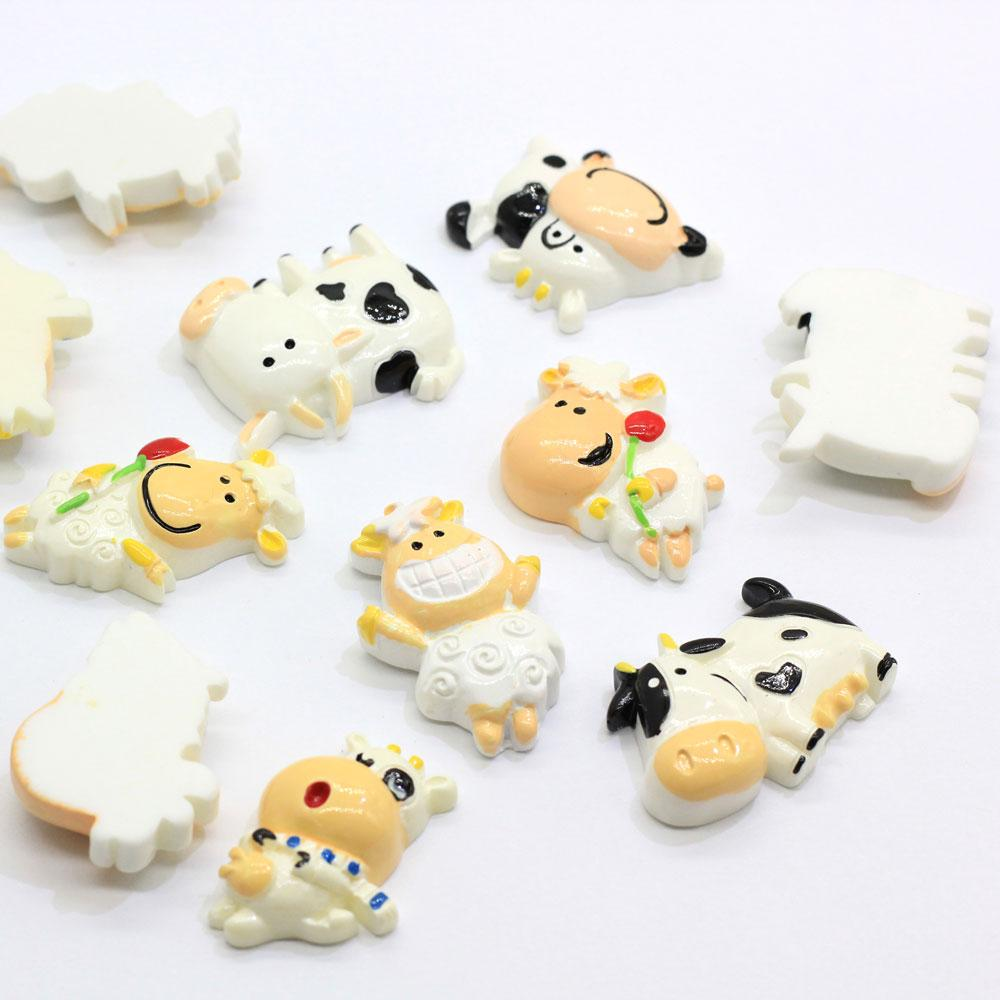 Slime charms 10PCS Mini Slime Charms Animals Cartoon Cute Duck Rabbit Cow Slime Accessories Making Supplies For Crafts 13