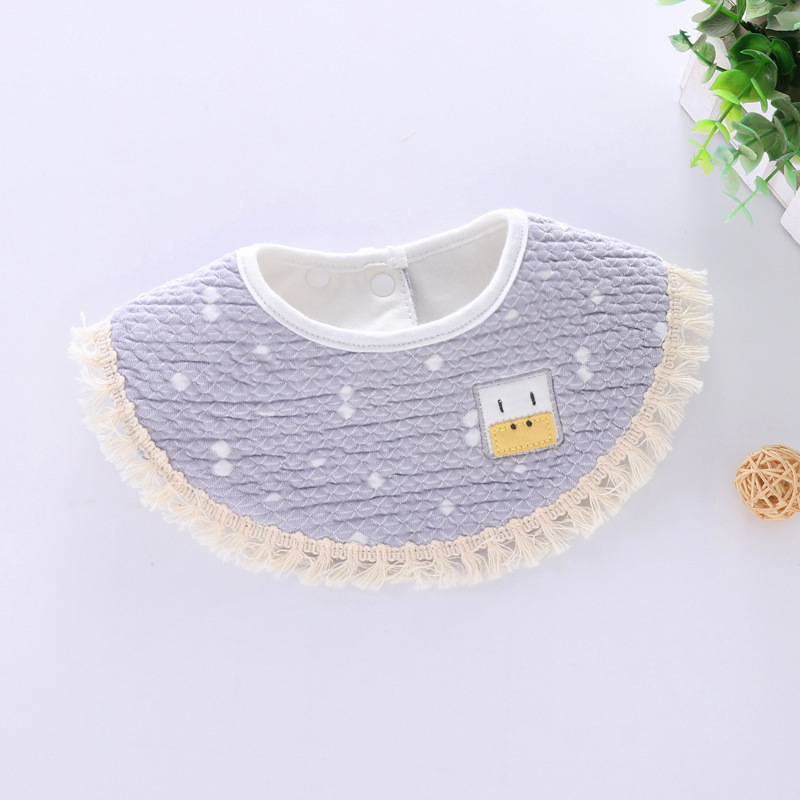 100% Cotton Waterproof Baby Bibs Fashion Round Neck Baby Girls Bibs 360 Degree Flower Star Bib For Girls Baby Girls Clothing (9)