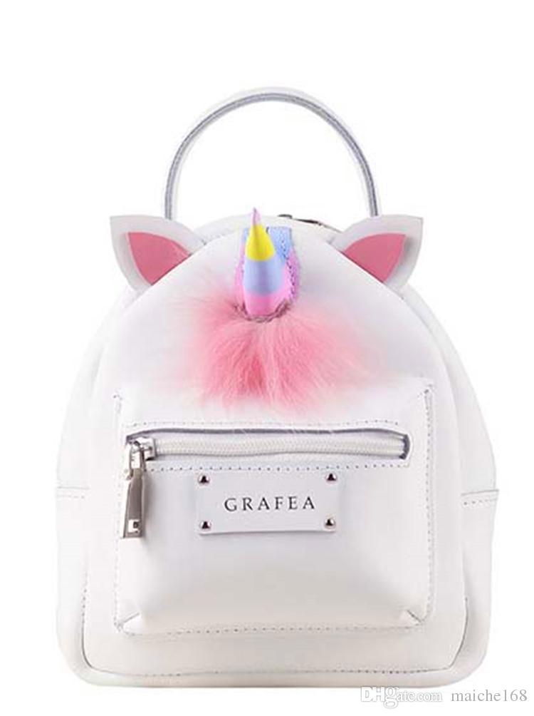 49dce513d68 New Candy Colorful Unicorn Mini Shoulder Bag Fluffy Backpack Girl Portable  Shoulder Bag Bookbags Backpack Purse From Springwater44, $45.69| DHgate.Com