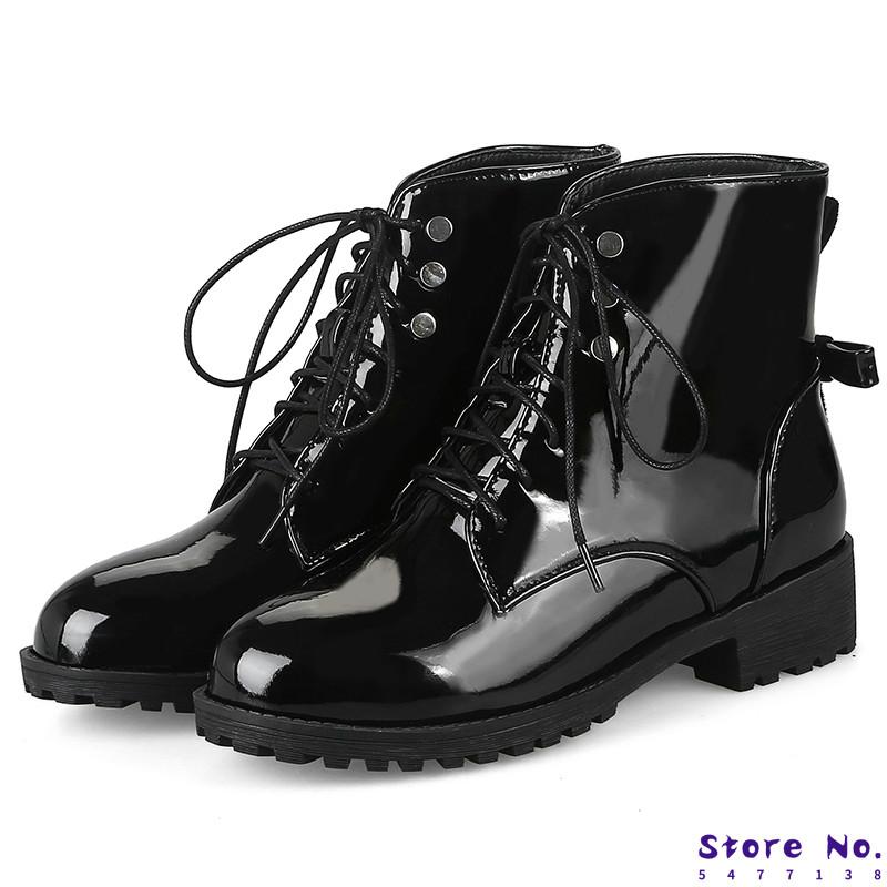 Fashion Womens Punk platform high Chuncky heels Riding Bottines Fermeture Éclair Chaussures SZ