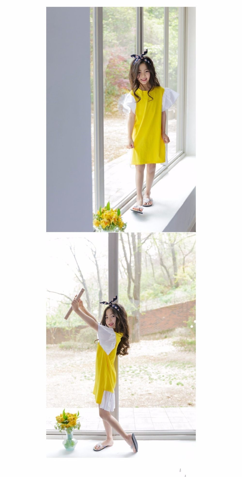 ruffles patchwork little big girl dresses cotton summer 2017 yellow knee legnth kids dresses designs Children Boutique Clothes 4 5 6 7 8 9 10 11 12 13 14 years old little big teenage girls dresses summer dress girl kids 2017 (11)