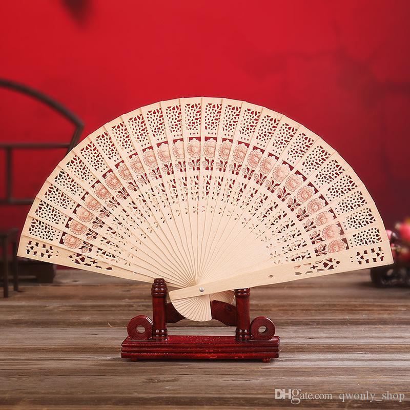 PAPER FOLDING HAND FAN CHINESE Summer Wedding Party Floral Printed Favour NEW UK